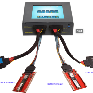 """SUPERIMAGER PLUS 8"""" NVME + SATA FORENSIC FIELD UNIT - LINUX FORENSIC IMAGER WITH NVME AND THUNDERBOLT 3.0, DUAL BOOT"""